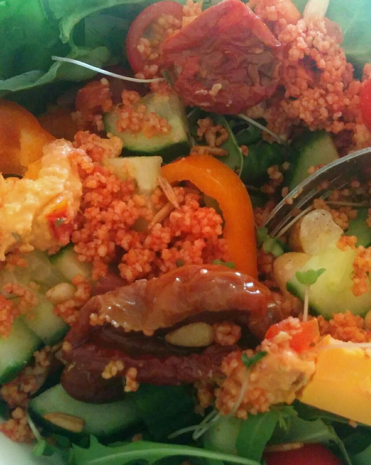 sun-dried tomato and cous cous salad