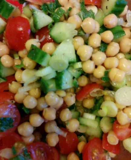 chickpea and mint salad