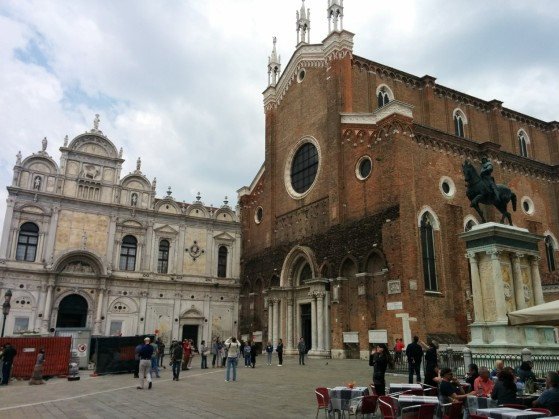 Hospital on the left, Basilica San Gioanni e Paolo on the right
